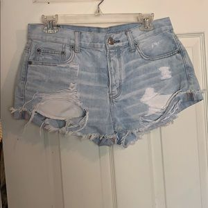 Denim tomgirl shorts